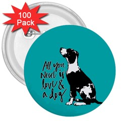 Dog Person 3  Buttons (100 Pack)  by Valentinaart