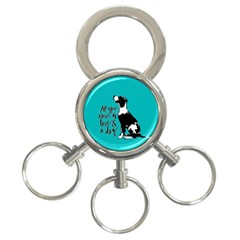 Dog Person 3 Ring Key Chains by Valentinaart