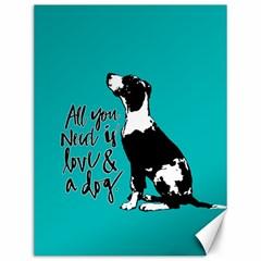 Dog Person Canvas 12  X 16   by Valentinaart