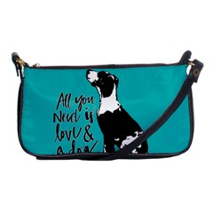 Dog Person Shoulder Clutch Bags by Valentinaart