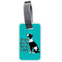 Dog Person Luggage Tags (two Sides) by Valentinaart