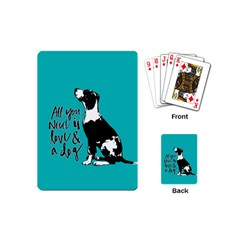 Dog Person Playing Cards (mini)  by Valentinaart