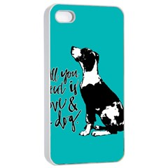 Dog Person Apple Iphone 4/4s Seamless Case (white) by Valentinaart