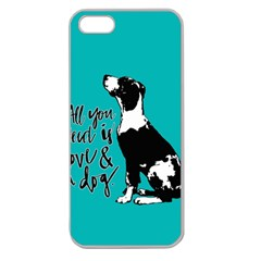 Dog Person Apple Seamless Iphone 5 Case (clear) by Valentinaart