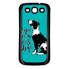 Dog Person Samsung Galaxy S3 Back Case (black) by Valentinaart