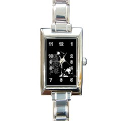 Dog Person Rectangle Italian Charm Watch by Valentinaart