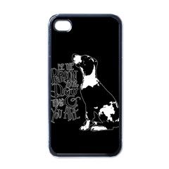 Dog Person Apple Iphone 4 Case (black) by Valentinaart