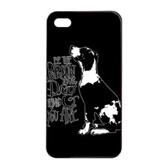 Dog Person Apple Iphone 4/4s Seamless Case (black) by Valentinaart