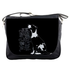 Dog Person Messenger Bags by Valentinaart