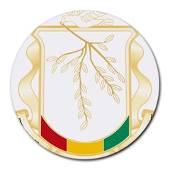Coat Of Arms Of Republic Of Guinea  Round Mousepads by abbeyz71