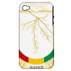 Coat Of Arms Of Republic Of Guinea  Apple Iphone 4/4s Hardshell Case (pc+silicone) by abbeyz71