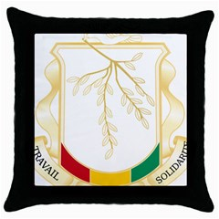 Coat Of Arms Of Republic Of Guinea  Throw Pillow Case (black) by abbeyz71