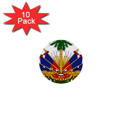 Coat Of Arms Of Haiti 1  Mini Buttons (10 Pack)  by abbeyz71