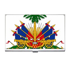 Coat Of Arms Of Haiti Business Card Holders by abbeyz71