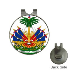 Coat Of Arms Of Haiti Hat Clips With Golf Markers by abbeyz71