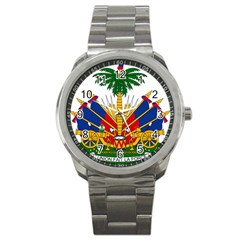 Coat Of Arms Of Haiti Sport Metal Watch by abbeyz71