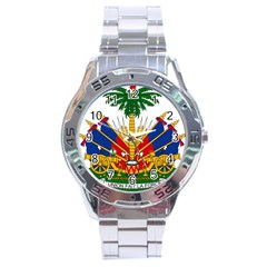 Coat Of Arms Of Haiti Stainless Steel Analogue Watch by abbeyz71