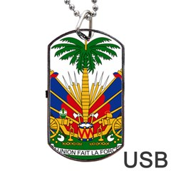 Coat Of Arms Of Haiti Dog Tag Usb Flash (one Side) by abbeyz71