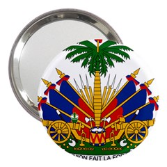 Coat Of Arms Of Haiti 3  Handbag Mirrors by abbeyz71