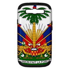 Coat Of Arms Of Haiti Samsung Galaxy S Iii Hardshell Case (pc+silicone) by abbeyz71