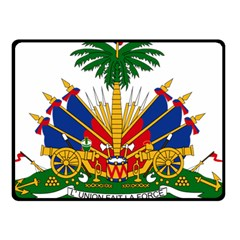 Coat Of Arms Of Haiti Double Sided Fleece Blanket (small)  by abbeyz71