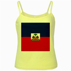Flag Of Haiti  Yellow Spaghetti Tank by abbeyz71