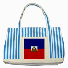 Flag Of Haiti  Striped Blue Tote Bag by abbeyz71