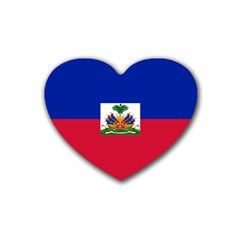 Flag Of Haiti  Rubber Coaster (heart)  by abbeyz71