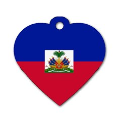 Flag Of Haiti  Dog Tag Heart (two Sides) by abbeyz71