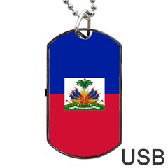 Flag Of Haiti  Dog Tag Usb Flash (two Sides) by abbeyz71