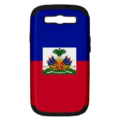 Flag Of Haiti  Samsung Galaxy S Iii Hardshell Case (pc+silicone) by abbeyz71
