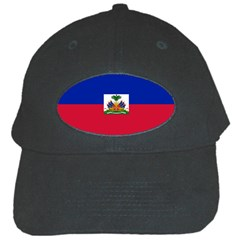 Flag Of Haiti Black Cap by abbeyz71