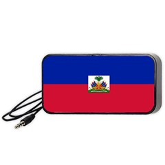 Flag Of Haiti Portable Speaker (black) by abbeyz71