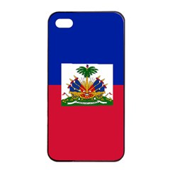 Flag Of Haiti Apple Iphone 4/4s Seamless Case (black) by abbeyz71