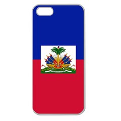 Flag Of Haiti Apple Seamless Iphone 5 Case (clear) by abbeyz71