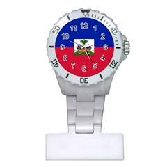 Flag Of Haiti Plastic Nurses Watch by abbeyz71