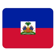 Flag Of Haiti Double Sided Flano Blanket (large)  by abbeyz71