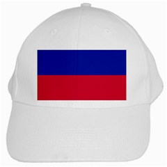 Civil Flag Of Haiti (without Coat Of Arms) White Cap by abbeyz71