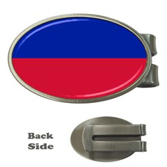 Civil Flag Of Haiti (without Coat Of Arms) Money Clips (oval)  by abbeyz71