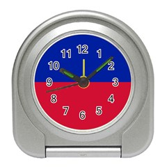 Civil Flag Of Haiti (without Coat Of Arms) Travel Alarm Clocks by abbeyz71