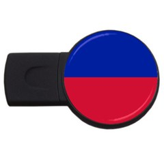 Civil Flag Of Haiti (without Coat Of Arms) Usb Flash Drive Round (4 Gb) by abbeyz71