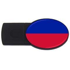 Civil Flag Of Haiti (without Coat Of Arms) Usb Flash Drive Oval (4 Gb) by abbeyz71