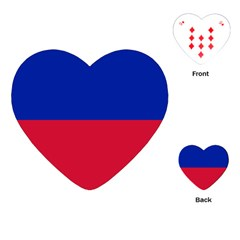 Civil Flag Of Haiti (without Coat Of Arms) Playing Cards (heart)  by abbeyz71
