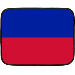 Civil Flag Of Haiti (without Coat Of Arms) Double Sided Fleece Blanket (mini)  by abbeyz71