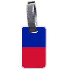 Civil Flag Of Haiti (without Coat Of Arms) Luggage Tags (one Side)  by abbeyz71