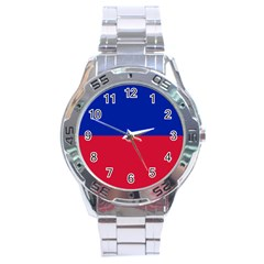 Civil Flag Of Haiti (without Coat Of Arms) Stainless Steel Analogue Watch by abbeyz71