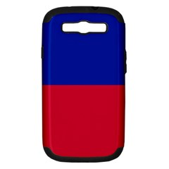 Civil Flag Of Haiti (without Coat Of Arms) Samsung Galaxy S Iii Hardshell Case (pc+silicone) by abbeyz71