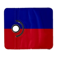 Civil Flag Of Haiti (without Coat Of Arms) Galaxy S3 (flip/folio) by abbeyz71