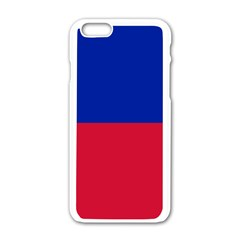 Civil Flag Of Haiti (without Coat Of Arms) Apple Iphone 6/6s White Enamel Case by abbeyz71
