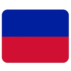 Civil Flag Of Haiti (without Coat Of Arms) Double Sided Flano Blanket (medium)  by abbeyz71